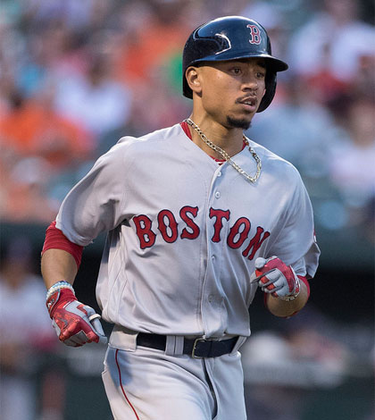 2017 Fantasy Outfielder Rankings Mookie Betts